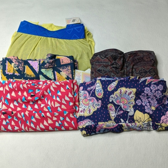 LuLaRoe Dresses & Skirts - LuLaRoe sz 2X lot of 5 skirts Maxi Cassie Lucy NWT